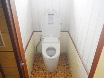 新しいトイレになって、嬉しいです。